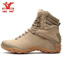 2017XIANGGUAN Men S Outdoor High Top Hiking Shoes Sports Tactical Boots Wear Resistant Camping Sneakers Waterproof