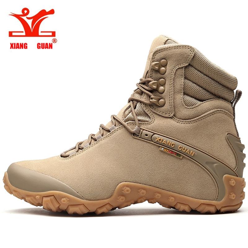 2017XIANGGUAN men's Outdoor High top Hiking Shoes Sports Tactical Boots Wear-Resistant Camping Sneakers Waterproof Women Footwea цена