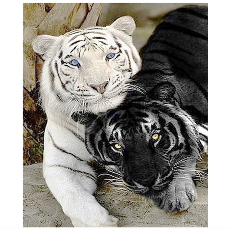 New Arrival 3D Diamond Embroidery Black And White Tiger Diamond Mosaic DIY Full Drill Diamond Painting Cross Stitch Kits DecorNew Arrival 3D Diamond Embroidery Black And White Tiger Diamond Mosaic DIY Full Drill Diamond Painting Cross Stitch Kits Decor