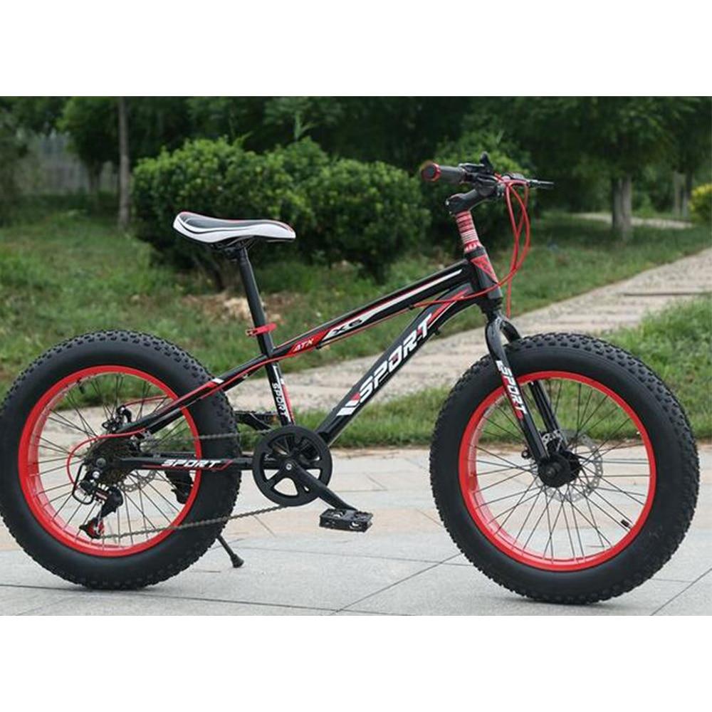 KUBEEN Mountain Bike 21 Speed 2.0 Inch Bicycle Road Bike Fat Bike Mechanical Disc Brake Women And Children Bicycles