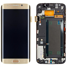 5,7 »Super Amoled ЖК-дисплей Дисплей для Samsung S6 Edge ЖК-дисплей S6 Edge Plus ЖК-дисплей с рамкой сменный сенсорный экран планшета Ассамблеи