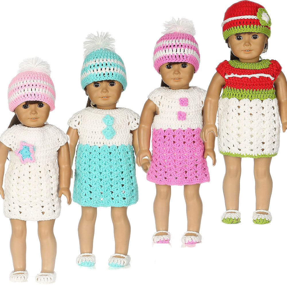 a0ba82183 7color Sweater suit Doll Clothes Wear fit 18 inch American Girl