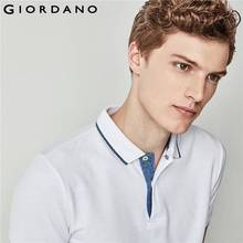 Giordano Men Polo Brand Clothing Short Sleeves Polo Shirt Casual Tops Camisa Polo Masculina Pique Polos Heather Color Tops