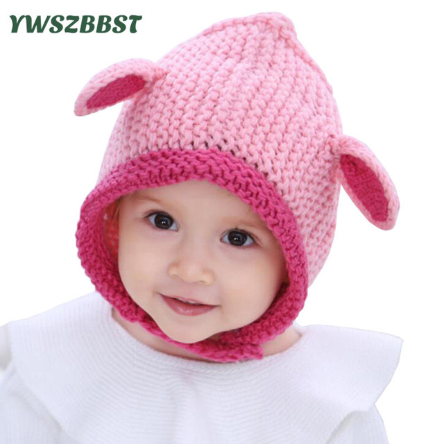 Crochet Baby Hat New Newborn Hats With Ears Cute Baby Caps Kids