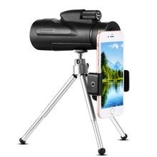 цена на New large eyepiece monocular 12X50 mobile  phone telescope HD high night vision low light outdoor portable mobile phone camera