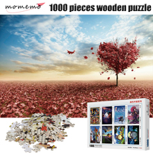 MOMEMO The Love Figure Wooden Puzzle Adults 1000 Pieces Jigsaw Puzzle Assembling Toys Children's Educational Toys Puzzle Game