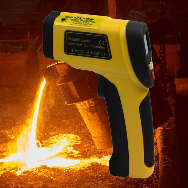 Dual Laser LCD Display Infrared Thermometer -50 To 1050 Degree Celsius HT-819 Temperature Instruments dropshipping