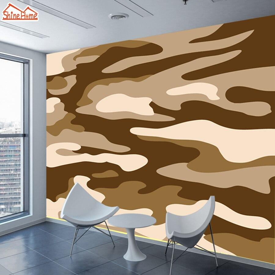 ShineHome-Custom Camouflage Desert Abstract Photo Wallpapers Contact Paper 3d Modern European Living Room Wall Murals Wallpaper