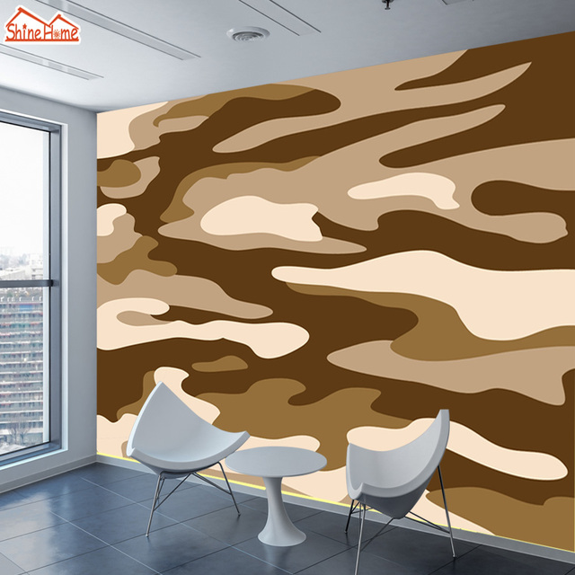 ShineHome Custom Camouflage Desert Abstract Photo Wallpapers Contact