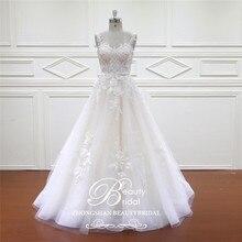 Beautybridal Robe de Mariage Schatz Böhmischen Spitze Vintage Boho Strand Hochzeit Kleid Romantische Hochzeit Kleider XF16017