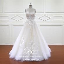 Beautybridal vestido de Novia de encaje bohemio, encantador, Vintage, bohemio, para playa, boda, romántico, XF16017