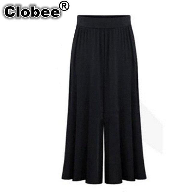 f4f89aa0ca Biuro 2018 Plus size XL-6XL Lato Kobiety Odzież Spodnie Szerokie Nogawki  Luźna Sukienka Spódnica