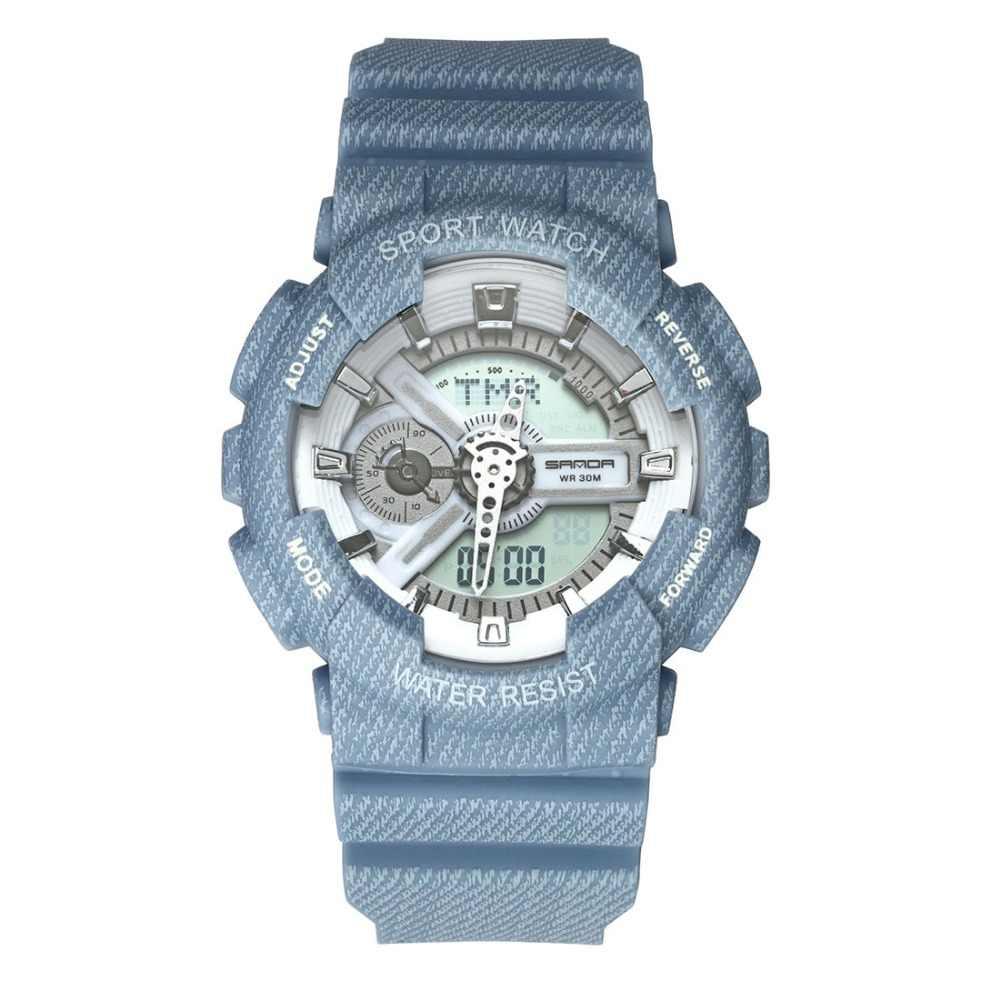 2017 三田新ファッションカジュアルスポーツデジタル腕時計ラバーカウボーイ防水時計愛好家の男性の女性の腕時計レロジオ masculino
