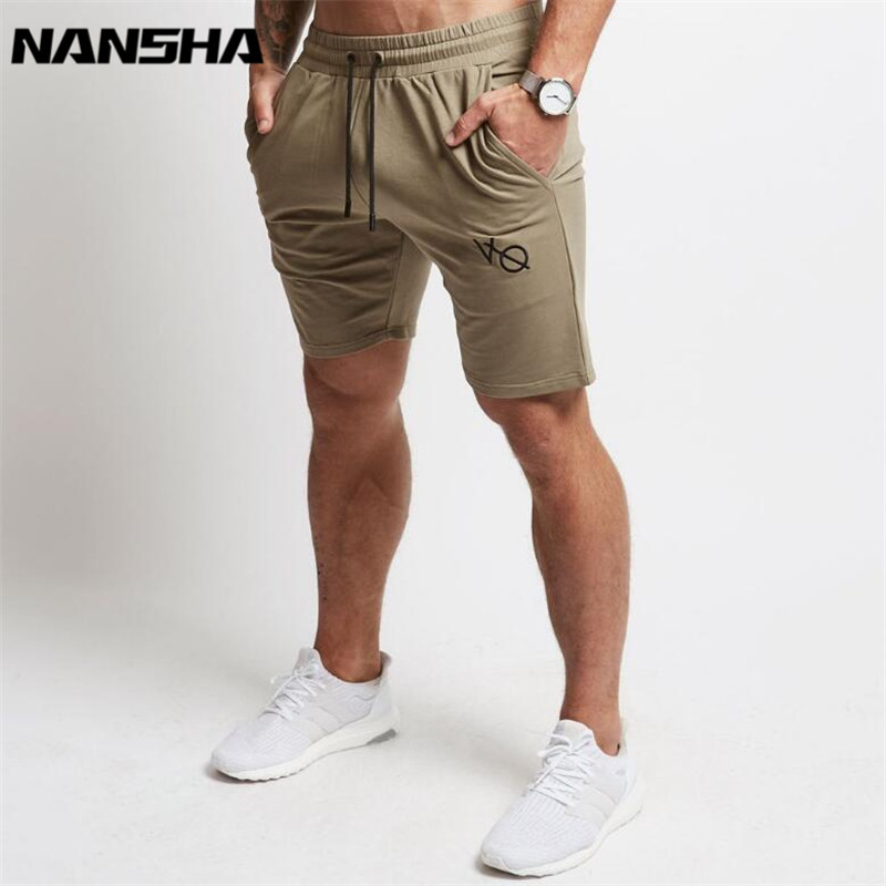 2018 Mens Cotton Shorts Calf-Length Gyms Fitness Bodybuilding Casual Joggers Workout Brand Sporting Shorts Sweatpants Sportswear