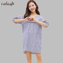 Korean model new cotton and linen nightdress feminine residence garments informal free nightgowns ladies summer season gown nightshirts A558