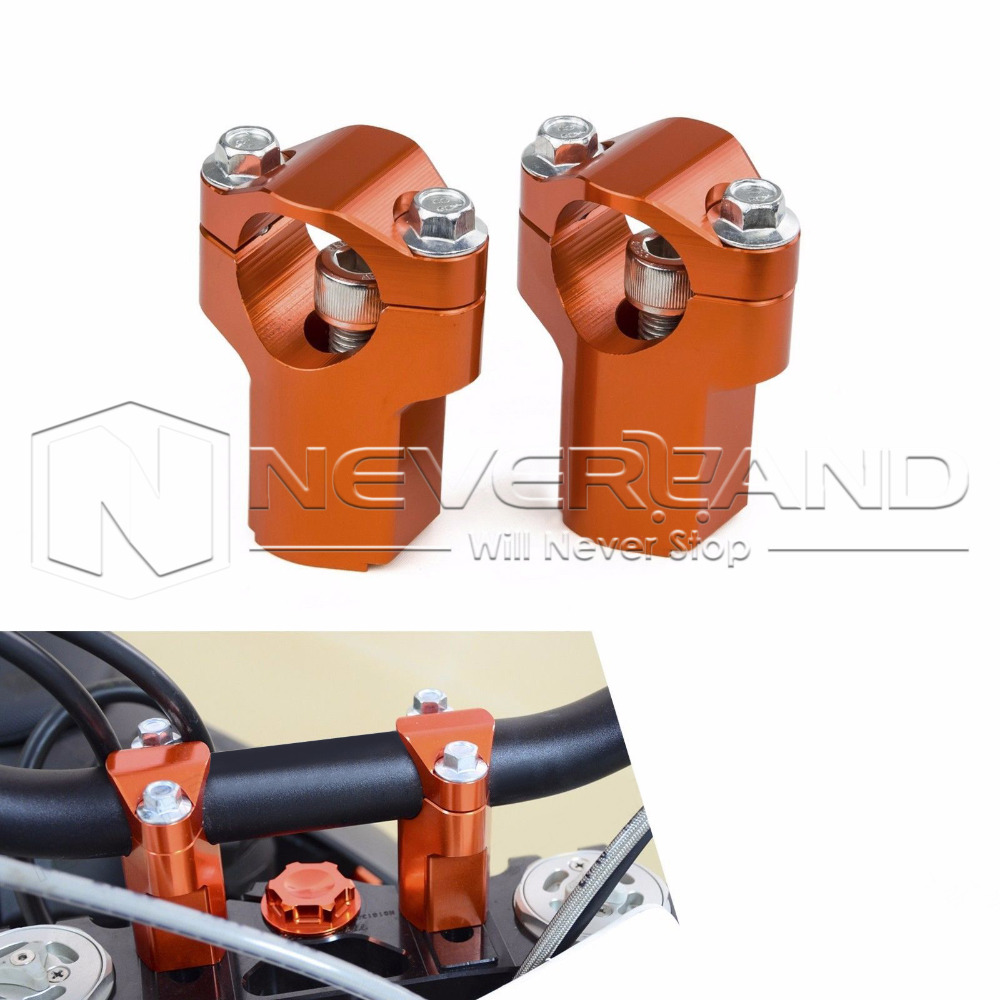 High Quality CNC Orange 28mm Handlebar Support Clamp Riser 52mm Height For KTM 125 200 250 300 EXC 06-16 Free Shipping D25