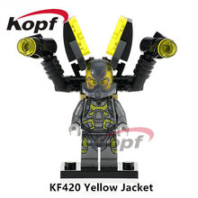 Single Sale KF420 Super Heroes Antman Yellow Jacket Deadpool Bricks Action Figures Building Blocks Children Gift Toys SY295(China)