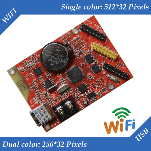 Hd-w60 Usb + Eingebaute Wifi Single Und Dual Farbe Led-anzeige Module Control Karte