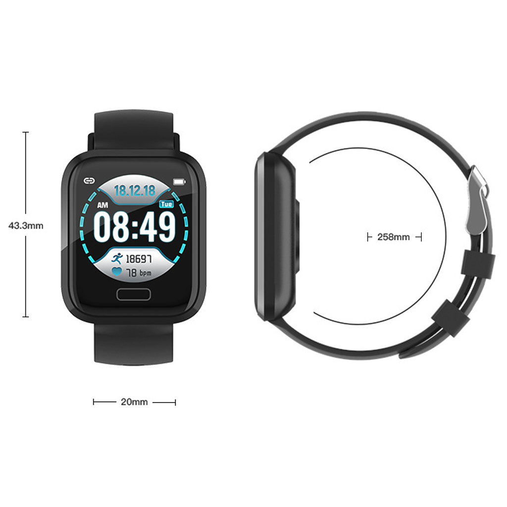 Image 4 - P30 Smart Watch Bluetooth Step Counter Waterproof Call Reminder Smart Bracelet 1.3 Inch Health Fitness Tracker For Android IOS-in Smart Watches from Consumer Electronics