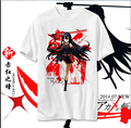 Аниме Akame ga убить футболки мужчины женщины одежда хлопок T рубашка Akame косплей с круглым вырезом короткий рукав Tshirt топы