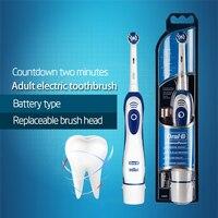 Подлинная Oral B электрическая зубная щетка DB4010 батарея Oprated зубная щетка гигиена полости рта точность чистки вращающихся зубных щеток головк...