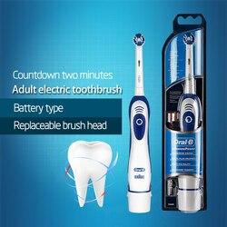 Genuine oral b escova de dentes elétrica db4010 bateria oprated escova de dentes higiene oral precisão limpa rotação dentes cabeça da escova
