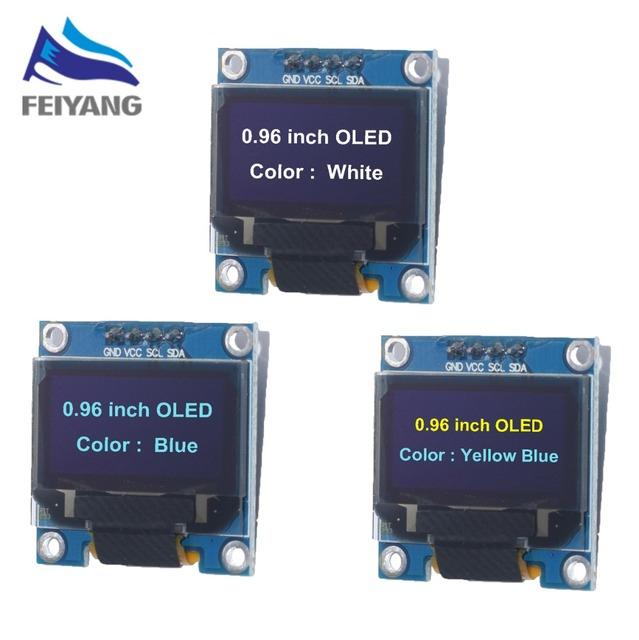 """Neue original 4pin 0,96 """"Weiß/Blau/Gelb blau 0,96 zoll OLED 128X64 OLED Display Modul für arduino 0,96 """"IIC I2C Kommunizieren"""