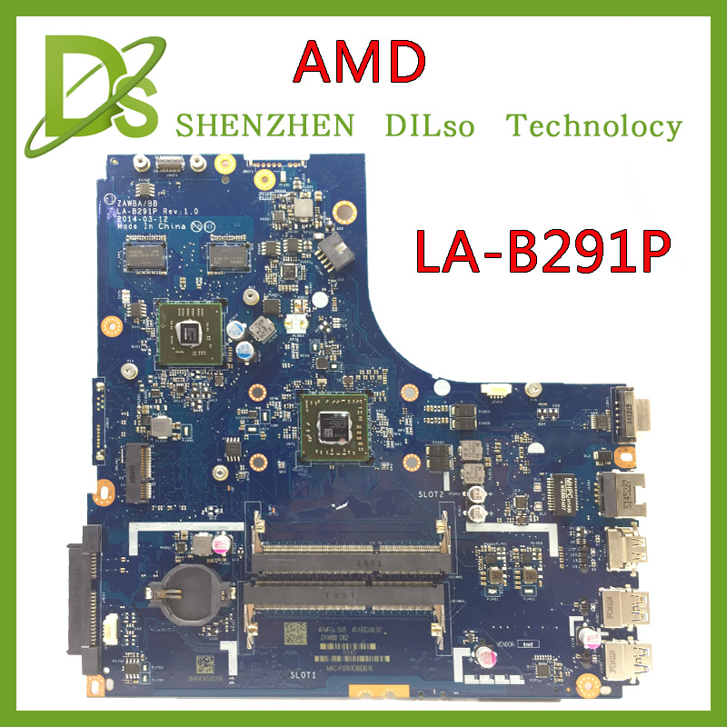 zawbb la b291p laptop motherboard for lenovo b50 45 notebook pc compare please with discrete graphic KEFU LA-B291P for Lenovo B50-45 LA-B291P laptop motherboard CPU Test B50-45 motherboard