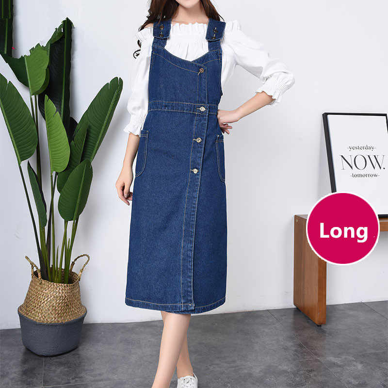 Plus Size S-6XL Vintage Retro Summer Autumn Denim Dress Sundress 2018  Casual Loose Strap fc4cd70a2214