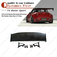 Car Accessories FRP Fiber Glass Pandem Style Trunk GT Wing Fit For 2016 2018 MX5 Miata ND Rocket RB Rear Spoiler Wing