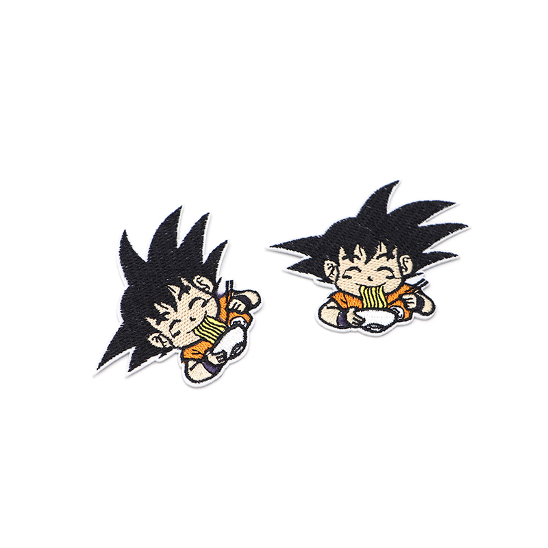 100pcs/lot Cartoon Anime Son Goku Embroidery Patch Iron On Patches For Clothes DIY Accessory Applique Armband Book Stickers S31-in Patches from Home & Garden    2