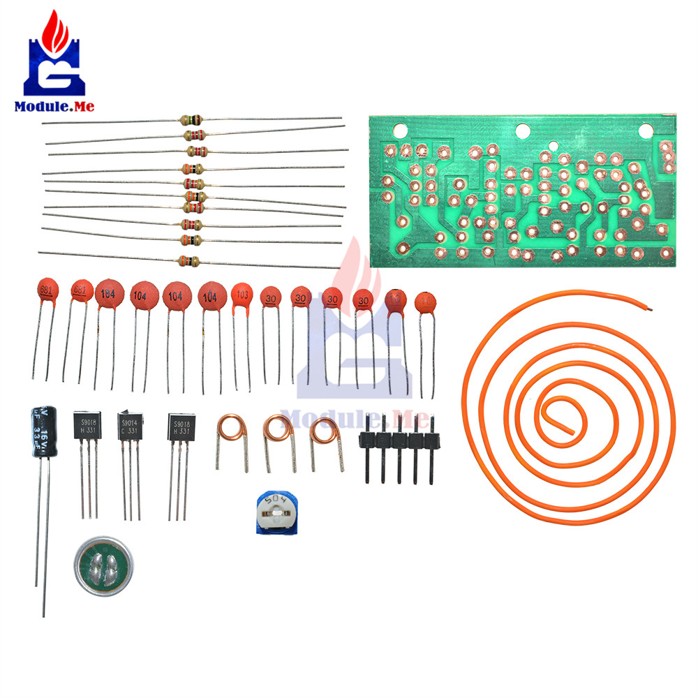 Fm Radio High Frequency Wireless Microphone Diy Kits Mic Board Sound Circuit Electrical Siganl Transform Module Antenna 80mhz 103mhz In Integrated Circuits From