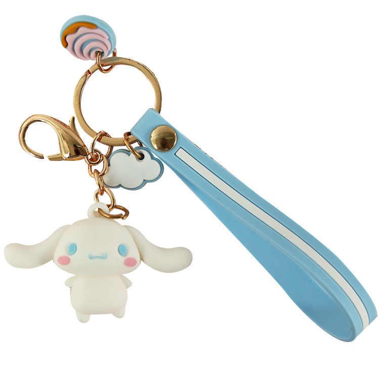 Pom Pom Purin kuromi Sapo dos desenhos animados keychain DO PVC Viajar Bad Badtz Maru engraçado bonito estéreo bolsa pingente chaveiro llaveros crianças presente