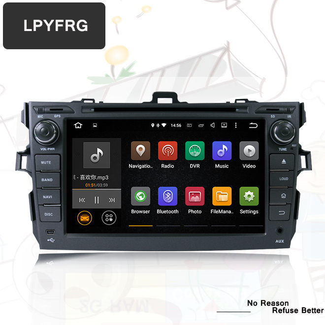 Cheap 4G+32G for Toyota corolla 2007 2008 2009 2010 2011 car dvd gps navigation android 9.0 car console car radio player car HD stereo 2