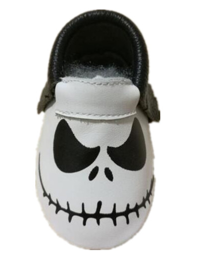 New Genuine Leather Baby Moccasins Halloween presents Newborn baby girls boys first walker soft toddler cirb Shoes
