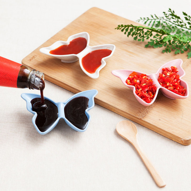 Multifunction Sauce Dish Butterfly Shaped Seasoning Rack Seasoning Box Storage Container Condiment Jars Kitchen Accessories ...
