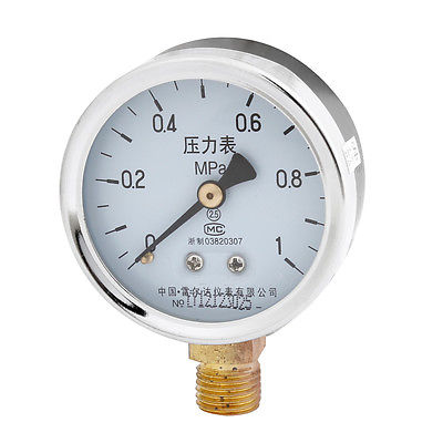Air Pressure Testing 1/4PT Thread 0-1Mpa 0-4Mpa 0-6Mpa 0-10Mpa 0-16Mpa 0-25Mpa 0-60Mpa Rounded Casing Compressor Gauge  Y-60 13mm male thread pressure relief valve for air compressor