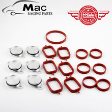 cheaper shipping  6 x 33mm OEM design by aluminum For BMW Swirl Flap Blanking Plates seal with intake manifold gasket 6 cylinder