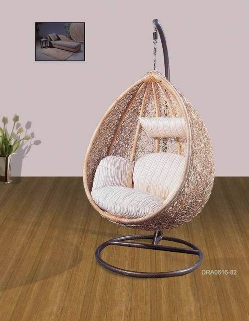 hanging chair egg garden covers at b&q high quality natural rattan basket belt pad comfortable rocking shaped 0616 82