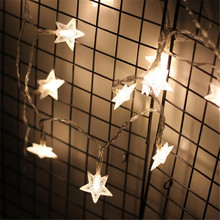 7.5M 50Leds Star Shaped LED Fairy String Lights Baby Home Decor Lighting For Holiday Party Decoration