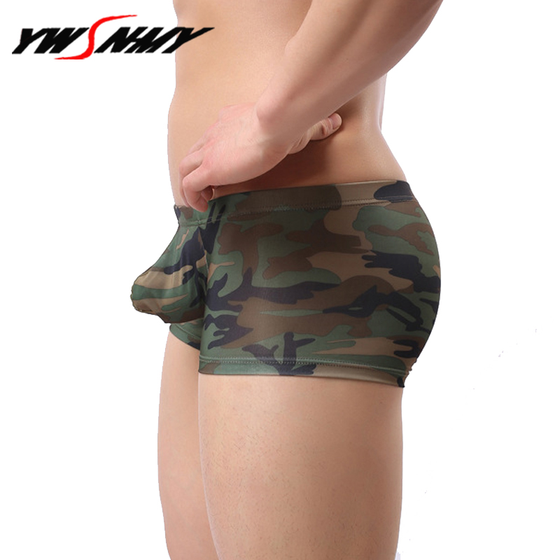 Fashion Men's Camouflage Boxers Underwear New Mens Homme Sexy Low Waist Underpants Hombre Camo Military Style Shorts Panties
