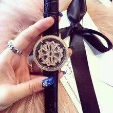 럭셔리 패션 손목 시계 쿼츠 시계 고급 여성용 시계 회전 가죽 팔찌 맞춤형 시계 relojes