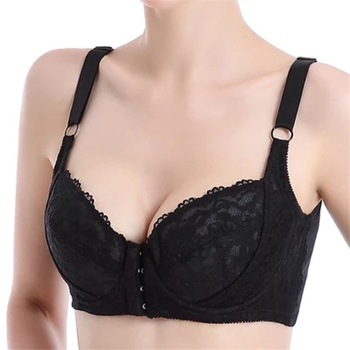 YAVO SOSO  Sexy Lingeries Women bras plus size 110DEF large cups breathable vest front fastener lace women's underwear 4