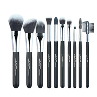 10pcs Makeup Brush Set Wooden Handle Nylon Brush Head Soft And Comfortable Beauty Tools