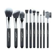 ФОТО 10pcs makeup brush set  wooden handle  nylon brush head  soft and comfortable beauty tools