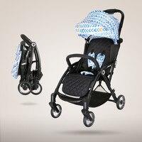 아기 유모차는 매우 light 고 겨울과 여름 이중 사용 우산 접는 아기 유모차 어린이 트롤리를 reclining 앉아 수 있습니다
