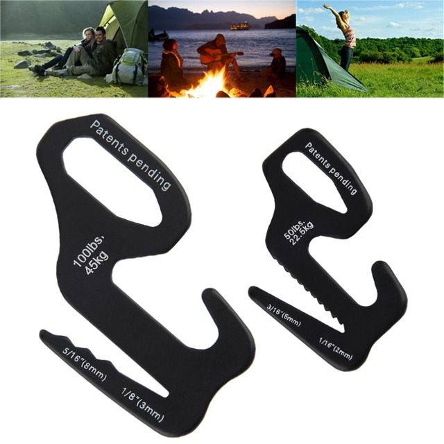 2016 New 9 Shape Rope Tightener Tie Down Strap Tool Camping Tent Rope Buckle free shipping