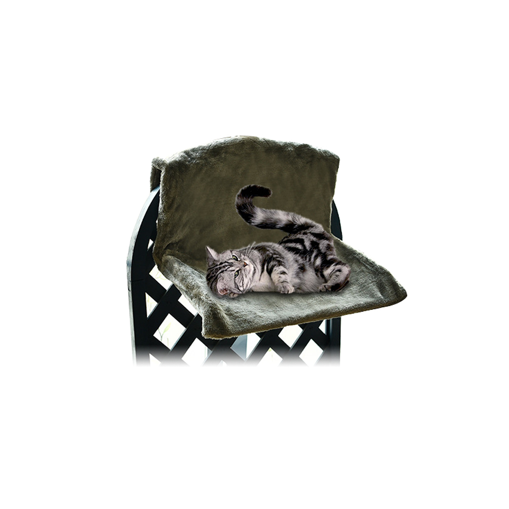 Petacc High quality Cat Bed Stainless Steel Frame Machine Washable Warm Cat Window Perch Folding Small Pet Hammock