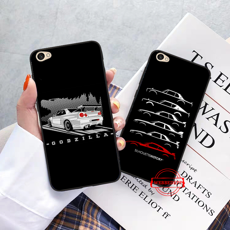 WEBBEDEPP NISSAN GTR Silicone Case for Xiaomi Redmi 4A 4X 5A 5 Plus S2 6 6A 7 7A K20 Pro Go in Fitted Cases from Cellphones Telecommunications