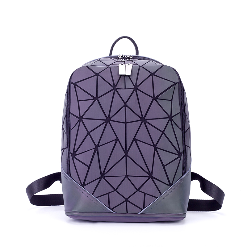 New Fashion Small PVC Luminous Women Leather Backpack Mochila School Bags For Teenage Girls Zipper Anti Theft Backpack Rucksack eyes in love fashion leather backpack female small school backpack for teenage girls quality pu rucksack women bags mini mochila page 1